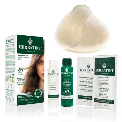 Natur hår farve fra Herbatint (Platinium blond - 10N)
