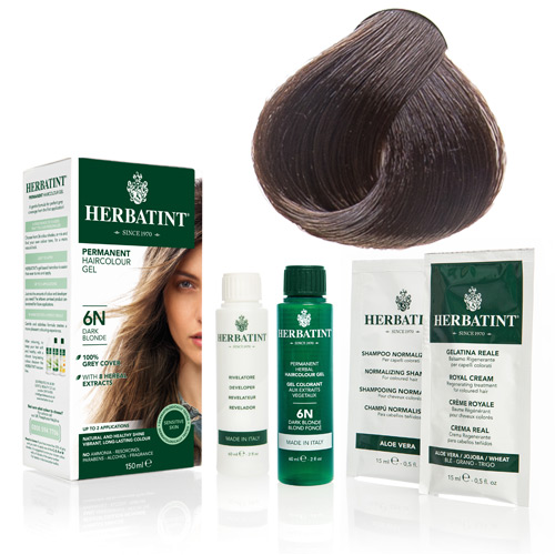 Natur hår farve fra Herbatint (Golden chestnut - 4D)