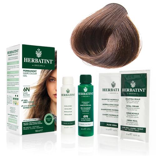Natur hår farve fra Herbatint (Light golden chest - 5D)