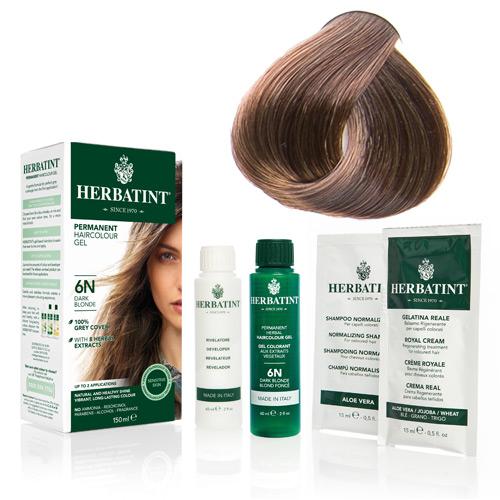Natur hår farve fra Herbatint (Dark golden blond - 6D)