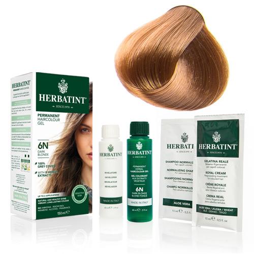 Natur hår farve fra Herbatint (Golden blonde  -7D)