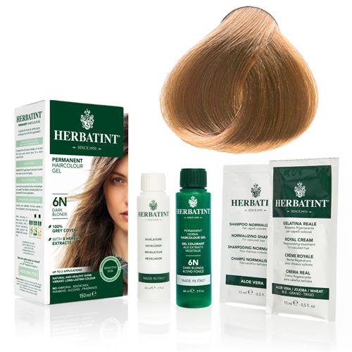 Natur hår farve fra Herbatint ( Light golden blonde - 8D)