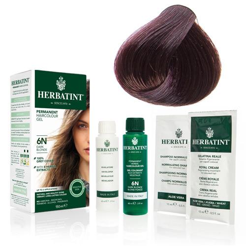 Natur hår farve fra Herbatint (Light mahogany che - 5M)
