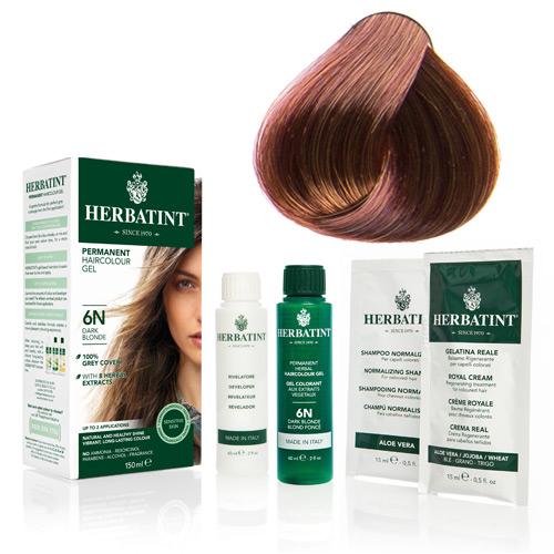 Natur hår farve fra Herbatint (Mahogany blonde - 7M)
