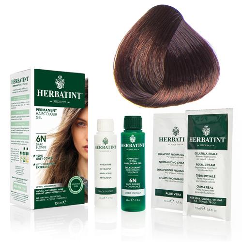 Natur hår farve fra Herbatint (Copper chestnut - 4R)