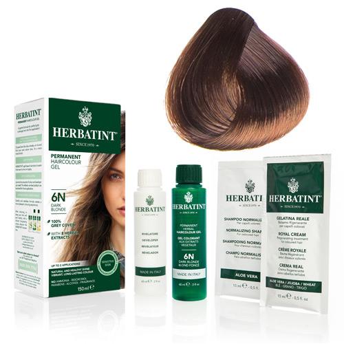 Natur hår farve fra Herbatint (Light copper chest - 5R)