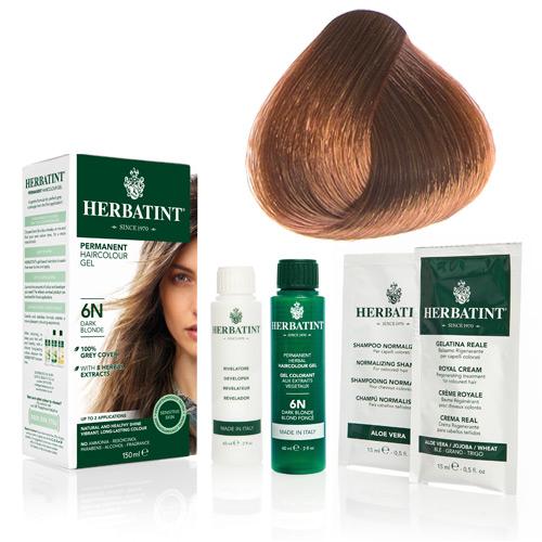 Natur hår farve fra Herbatint (Copper blonde - 7R)
