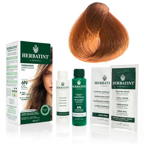 Natur hår farve fra Herbatint (Light copper blond - 8R)
