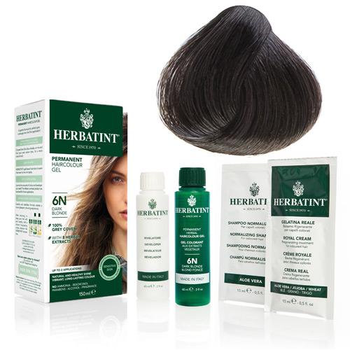 Natur hår farve fra Herbatint (Ash chestnut - 4C)