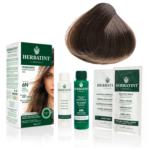 Natur hår farve fra Herbatint (Ash blonde - 7C)