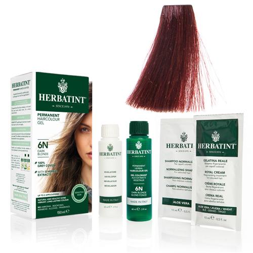 Natur hår farve fra Herbatint (Henna red - FF1)
