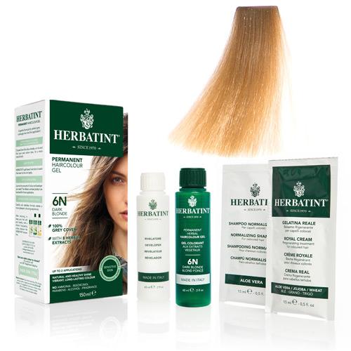 Natur hår farve fra Herbatint (Sand blond - FF5)