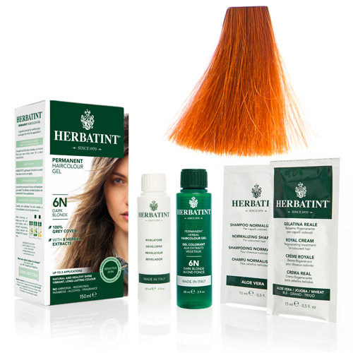 Natur hår farve fra Herbatint (Orange - FF6)