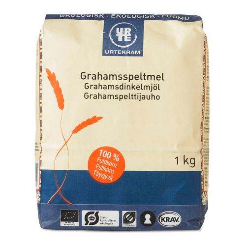 Grahams speltmel økologisk 1000 gr fra Urtekram