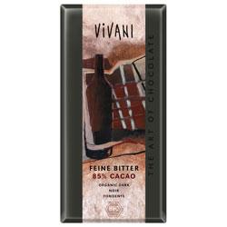 Image of   Chokolade mørk 85% 100gr. Vivani