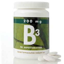 Image of   B3 depottabletter 200 mg 90 tab