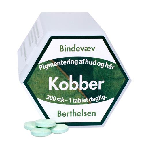 Image of   Kobber 2 mg 200 tab fra Berthelsen