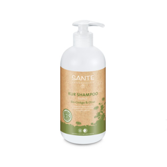 Shampoo treatment organic gingo & olive 500ml fra Sante