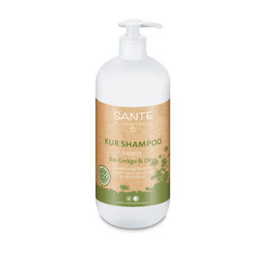 Shampoo treatment organic gingo & olive 950ml fra Sante