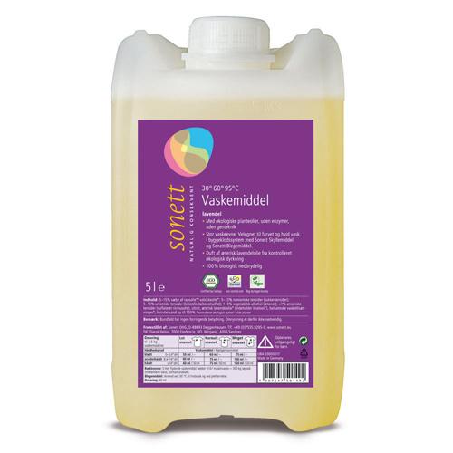 Image of   Flydende tøjvask økologisk fra Sonett (5 liter)