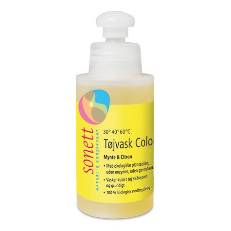Image of   Flydende tøjvask colour økologisk fra Sonett (120 ml)