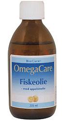 Fiskeolie OmegaCare med appelsinsmag 225ml