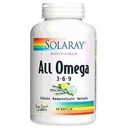 All Omega 3-6-9 90 kap fra Solaray