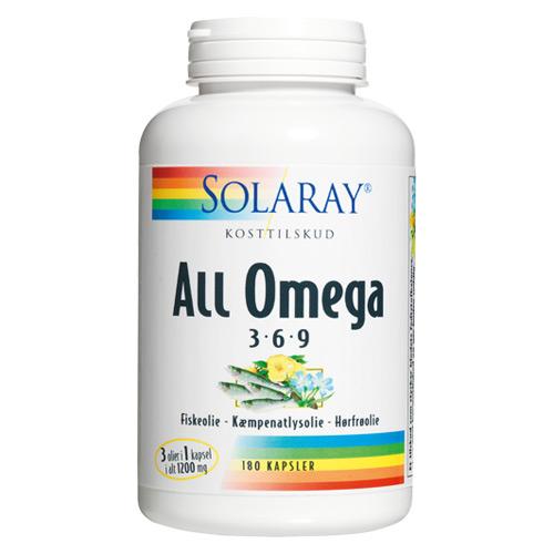 All Omega 3-6-9 180 kap fra Solaray