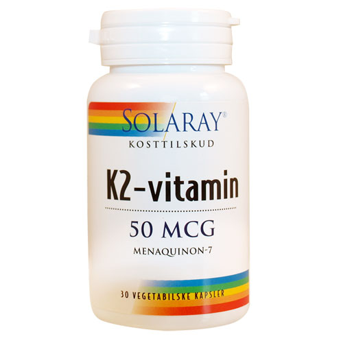 Image of K2-vitamin 50 mcg 30kap fra Solaray