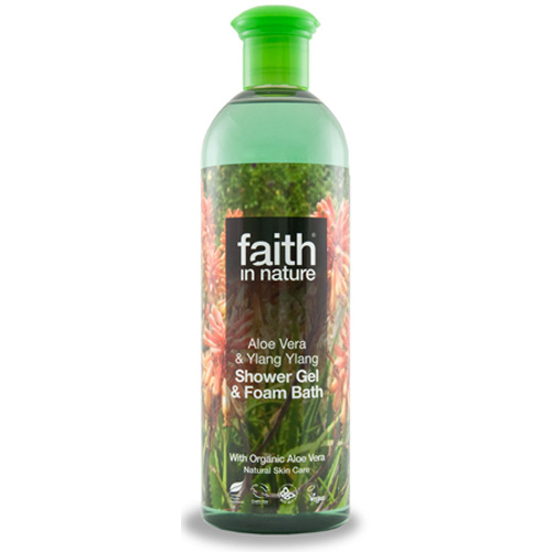 Image of Shower gel aloe vera 400ml fra Faith in nature