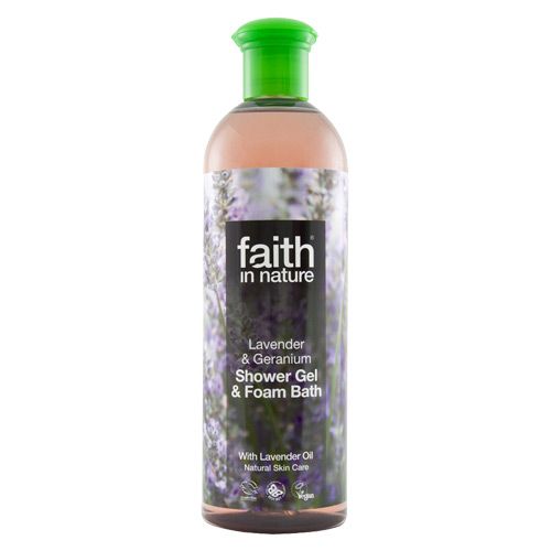 Image of Shower gel lavendel 400ml fra Faith in nature