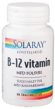 Image of   B 12 vitamin med folsyre sugetab. 90 tab