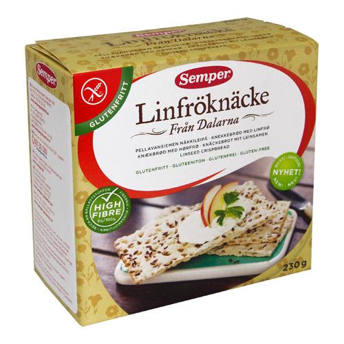 Tilbud på Knækbrød hørfrø glutenfri 230gr Semper