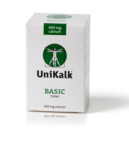 Image of Basic 400 mg calcium 180tab Unikalk