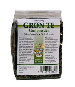 Grøn te gunpowder 100 gr