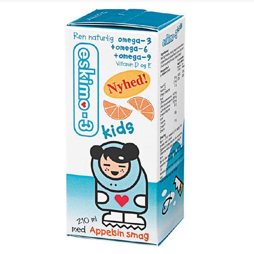 Eskimo-3 Kids m. appelsin smag 210ml