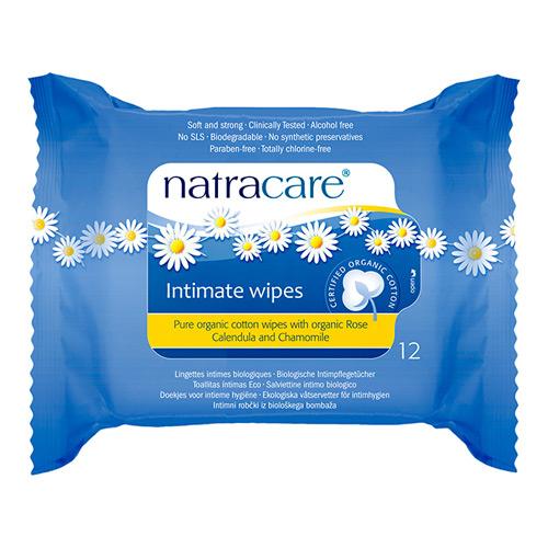Image of Natracare vådservietter intim hygiejne 12 stk