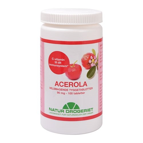 Image of   Acerola natural 90 mg 100tab fra Natur drogeriet