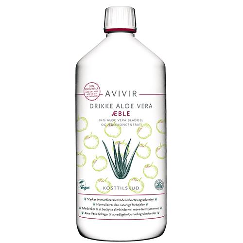 Image of Avivir Aloe Vera Drikke 95 % m. æbler 1000 ml