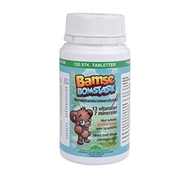 Bamse Bomstærk børnevitamin/mineral 120stk