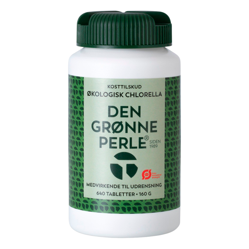 Chlorella - Den grønne perle 640 tab