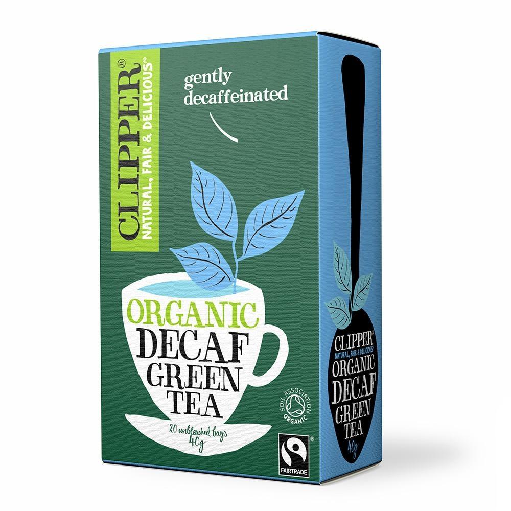 Grøn te koffeinfri økologisk 20 breve Clipper