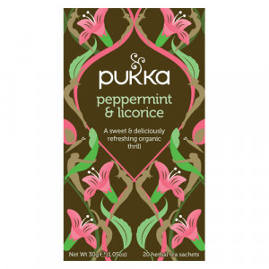 Pukka Peppermint & Licorice Te Ø (20 breve)
