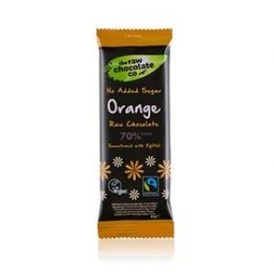 Naturesource Mørk Rå Chokolade 70% Orange M. Xylitol (44 gr)