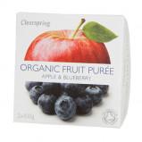 Frugtpuré Blåbær/æble økologisk fra Clearspring