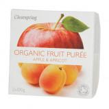 Frugtpuré Abrikos/æble økologisk fra Clearspring