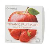 Frugtpuré Æble/jordbær økologisk fra Clearspring