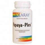 Papaya Plex Tyggetab 90 kap fra Solaray