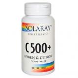 C-vitamin C 500 + hyben/citron 100tab fra Solaray