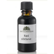 Urtegaarden Rød slikfarve (10 ml)